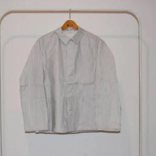 70-80s ホワイト ストライプ カバーオール(カバーオール)