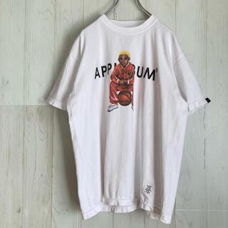 アップルバム(APPLEBUM)のアップルバム APPLEBUM Tシャツ ホワイト バスケ少年プリント 古着(Tシャツ/カットソー(半袖/袖なし))