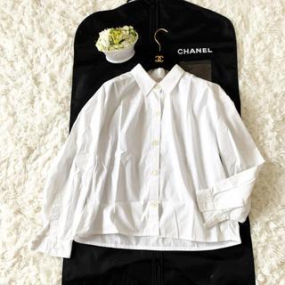 シャネル(CHANEL)の良品 CHANEL シャネル 白シャツ ブラウス ココマーク  ジャケット(シャツ/ブラウス(長袖/七分))