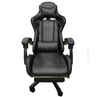 ゲーミングチェア 椅子 ブラック クッション付き リクライニング 在宅 動画配信(ハイバックチェア)