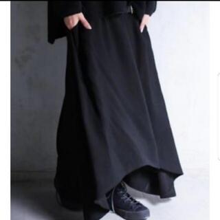 antiqua - 【antiqua】アシメロングスカート(ブラック)