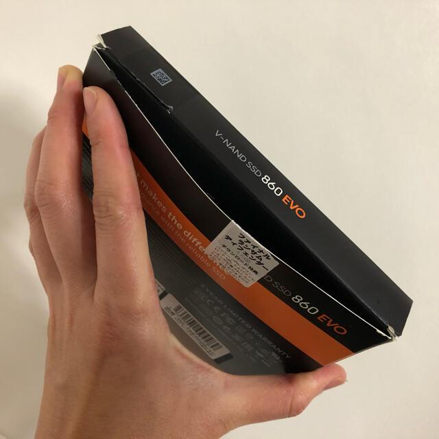SAMSUNG(サムスン)の値下げ!未使用品 SAMSUNG 860 EVO MZ-76E500B/EC スマホ/家電/カメラのPC/タブレット(PC周辺機器)の商品写真