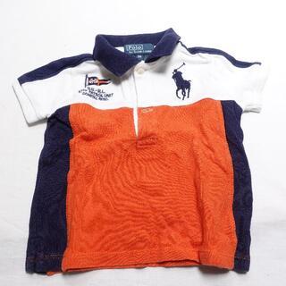 ラルフローレン(Ralph Lauren)のRalph Lauren 半袖ポロシャツ キッズメンズ ネイビー/ホワイト(Tシャツ)