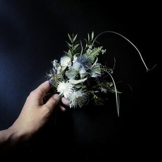 紫陽花のスワッグ 紫陽花花守りに‥(ドライフラワー)