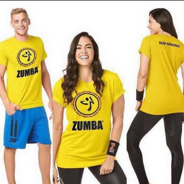 ズンバTシャツ(ユニセックス) スポーツ/アウトドアのトレーニング/エクササイズ(その他)の商品写真