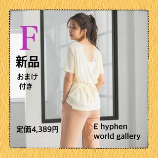 イーハイフンワールドギャラリー(E hyphen world gallery)の【即購入OK】イーハイフンワールドギャラリー バックカシュクールリブプルオーバー(カットソー(半袖/袖なし))