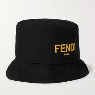 FENDI - Fendi フェンディ ロゴ バケットハット ブラック