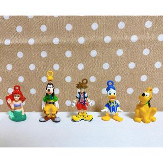 ディズニー(Disney)のレア★キングダムハーツ  フィギュアキーホルダー5点セット(ゲームキャラクター)