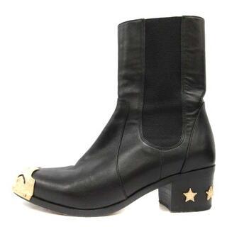 シャネル(CHANEL)のシャネル パリダラスコレクション ブーツ 36.5C 23.5cm 黒(ブーツ)