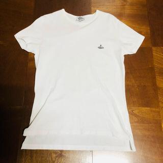 ヴィヴィアンウエストウッド(Vivienne Westwood)のヴィヴィアン ウェストウッドマン クルーネックTシャツ ホワイト サイズ46(Tシャツ/カットソー(半袖/袖なし))