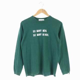 BEAMS BOY - ビームスボーイ プリントTシャツ カットソー 長袖 プルオーバー 緑 白