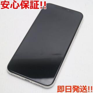 アイフォーン(iPhone)の良品中古 SIMフリー iPhoneX 64GB シルバー (スマートフォン本体)