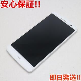 エルジーエレクトロニクス(LG Electronics)の美品 au LGL22 isai ホワイト 白ロム(スマートフォン本体)