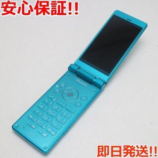 アクオス(AQUOS)の美品 SH-06G AQUOSケータイ ブルー グリーン (携帯電話本体)