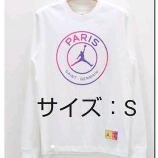ナイキ(NIKE)のNIKE JORDAN × パリサンジェルマンL/S Tシャツ ナイキ S(Tシャツ/カットソー(七分/長袖))