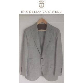 BRUNELLO CUCINELLI - BRUNELLO CUCINELLI 3ボタン テーラードジャケット 48