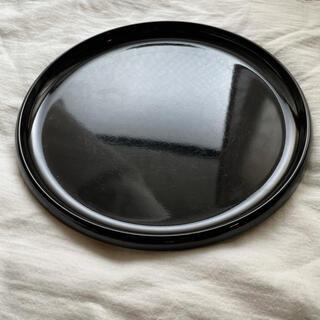 ムジルシリョウヒン(MUJI (無印良品))の丸盆 黒 ブラック(収納/キッチン雑貨)