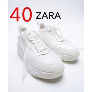 ZARA - ZARA バックプルタブスニーカー スニーカー 新品 40