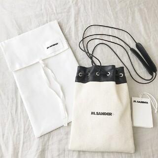 ジルサンダー(Jil Sander)の新品 21SS JIL SANDER ロゴ ミニ ショルダー 巾着 バッグ(ショルダーバッグ)