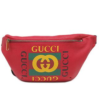 グッチ(Gucci)のグッチ  ウエストバッグ  プリント ベルトバッグ  530412  レ(ウエストポーチ)