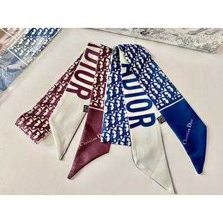 ディオール(Dior)のロゴ柄 スカーフ ボルドー(バンダナ/スカーフ)