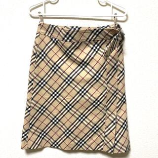 バーバリー(BURBERRY)のBurberry チェックスカート(ひざ丈スカート)