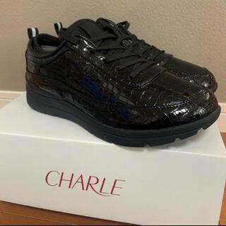 シャルレ(シャルレ)のシャルレ ウォーキングシューズ ブラック23.5センチ(スニーカー)