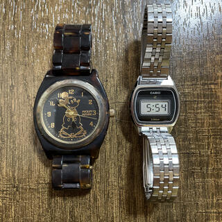 カシオ(CASIO)のCASIO digital & Mickey MOUSE 腕時計 j(腕時計)