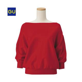 GU - GU ジーユー パフスリーブセーター(7分袖) パフスリーブ トップス ニット