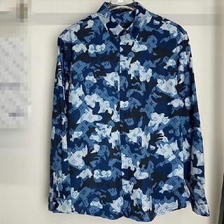 ルイヴィトン(LOUIS VUITTON)のファッションカモフラージュプリント ロゴシルクシャツ(シャツ)