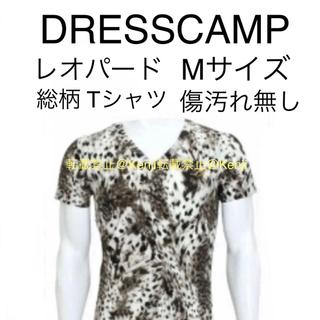 ドレスキャンプ(DRESSCAMP)のDRESSCAMP ドレスキャンプ レオパード 豹柄 ジャガー 総柄 TシャツM(Tシャツ/カットソー(半袖/袖なし))