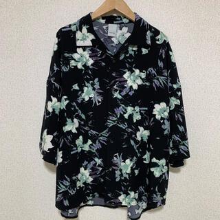 【Casper John】ドルマンスリーブ オープンカラーシャツ 花柄