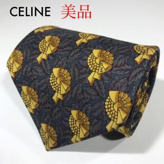 セリーヌ(celine)の美品 セリーヌ スペイン製 高級シルク ネクタイ 総柄 勲章(ネクタイ)