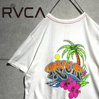 ルーカ(RVCA)のRVCA ルーカ サーフ ハイビスカス ロゴプリント バックプリント Tシャツ(Tシャツ/カットソー(半袖/袖なし))