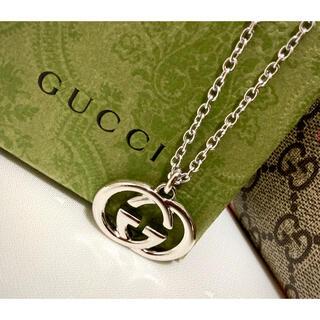 Gucci - GUCCI/グッチ インターロッキングG GGロゴ ネックレス(トップ デカめ