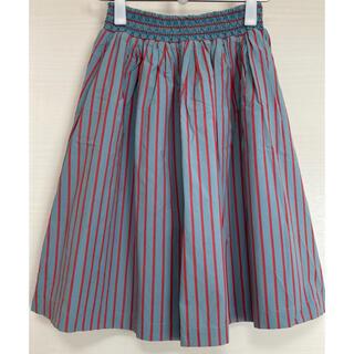 エヘカソポ(ehka sopo)のストライプスカート ミントグリーン×ピンク(ひざ丈スカート)