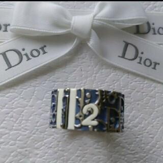 クリスチャンディオール(Christian Dior)の美品、ディオールトロッターリング青(リング(指輪))