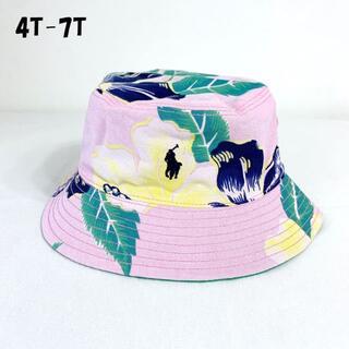 ラルフローレン(Ralph Lauren)のリバーシブルトロピカルフローラルバケットハット帽子/4T-7T(帽子)