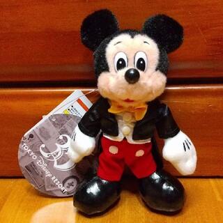 ディズニー(Disney)のTDR35周年 ヒストリーアートデザイン ミッキーマウス ぬいぐるみバッジ(ぬいぐるみ)