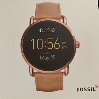 FOSSIL - FOSSILQ Q WANDER スマートウォッチ ライトブラウンレザー