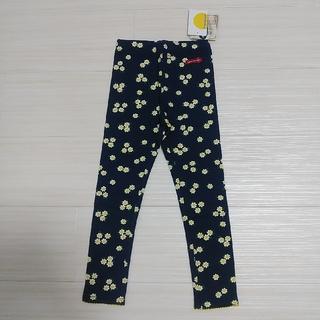 ムージョンジョン(mou jon jon)の新品タグ付き moujonjon ムージョンジョン レギンス 100 スパッツ紺(パンツ/スパッツ)