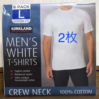 コストコ(コストコ)の新品 コストコ カークランド メンズTシャツ    Lサイズ 2枚セット(Tシャツ/カットソー(半袖/袖なし))