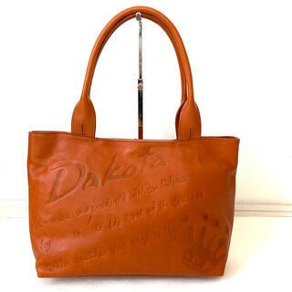 ダコタ(Dakota)のダコタ レザー トートバッグ オレンジっぽいブラウン 肩掛け A4対応 (トートバッグ)