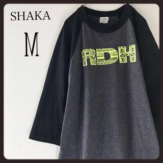 【 USA古着】SHAKAラグラン袖 七分袖tシャツ カットソー M ビンテージ(Tシャツ/カットソー(七分/長袖))
