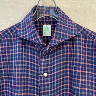 フィナモレ(FINAMORE)のフィナモレ リネンのシャツ 41 イタリア製 一枚でさらりと着られる麻(シャツ)