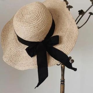ザラ(ZARA)のnatural wire straw hat(麦わら帽子/ストローハット)