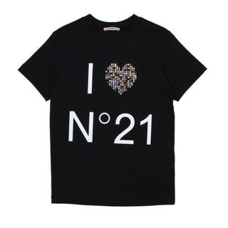 ヌメロヴェントゥーノ(N°21)の新品♡大人も着用可♡N°21♡ロゴTシャツ♡S相当(Tシャツ(半袖/袖なし))