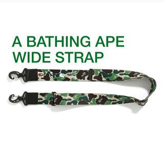 アベイシングエイプ(A BATHING APE)のA BATHING APE:APE WIDE STRAP ストラップ(その他)