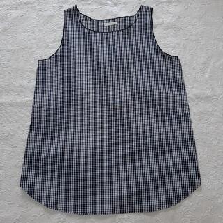 ルスーク(Le souk)のStadio   CLIP 未着 サイズL~LL  白黒ギンガム 綿100%(シャツ/ブラウス(半袖/袖なし))