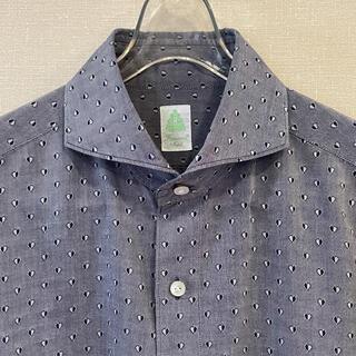 フィナモレ(FINAMORE)のフィナモレ シャツ XL カッタウェイ 綿100 肌触り最高 イタリア製(シャツ)